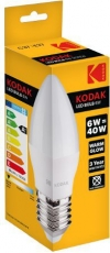 Kodak LED Candle E27 Warm 480lm 6W/40W   30415775