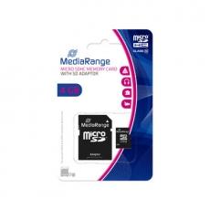 MediaRange Micro SDHC Card 4 GB Class 10 mit Adapter MR956