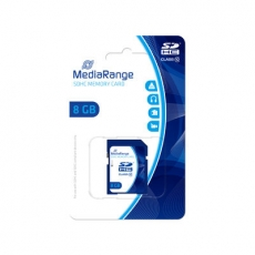 MediaRange Micro SDHC Card 8 GB Class 10 mit Adapter MR957